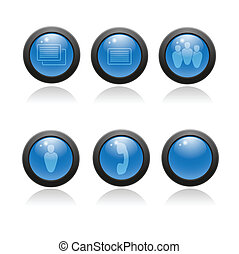 web, set, applications., lucido, icona