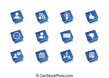 web, set, icone