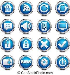 web, set, &, -, luogo, due, icona internet