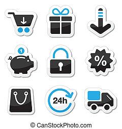 web, set, shopping, icone, -, /, internet