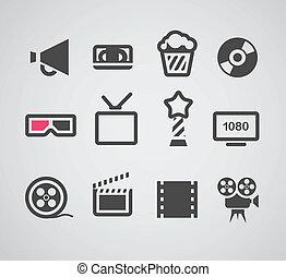 web, silhouette, collezione, cinema