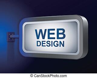 web, tabellone, parole, disegno