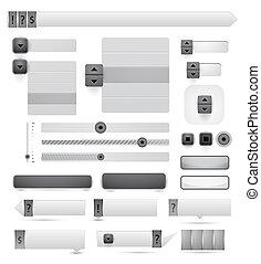 web, vettore, disegni elementi