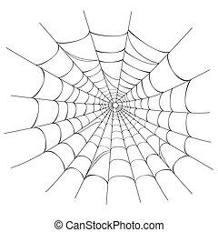 web, vettore, ragno, bianco
