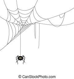 web, vettore, ragno
