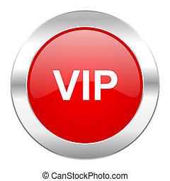 web, vip, cromo, isolato, icona, cerchio, rosso