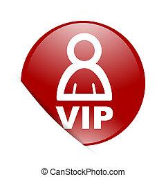 web, vip, lucido, cerchio, rosso, icona