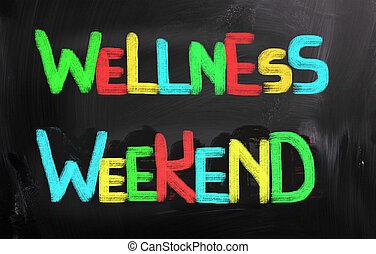 wellness, concetto, fine settimana