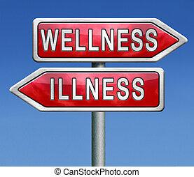 wellness, malattia, o