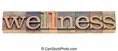 wellness, tipo, letterpress, parola