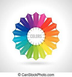 wheel., colorare, illustrazione, vettore