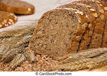 whole-grain, cereali, bread