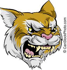 wildcat, carattere, mascotte