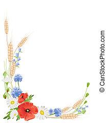 wildflowers, frumento
