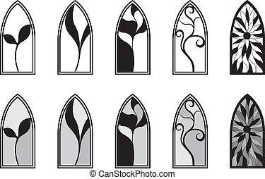 windows, vetro, macchiato