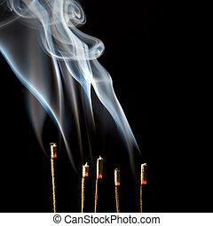 wisps, incenso, fumo