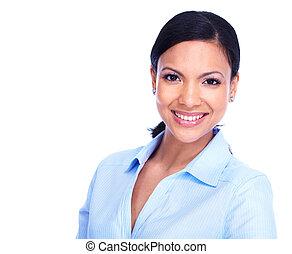 woman., giovane, affari