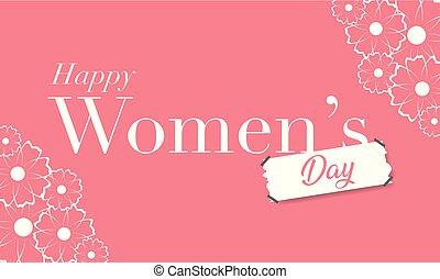 womens, giorno, felice