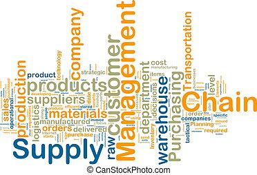 wordcloud, amministrazione, catena, fornitura