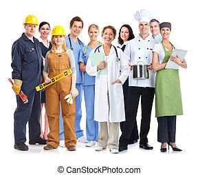 workers., industriale, gruppo