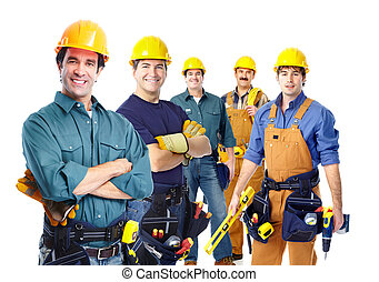 workers., industriale, gruppo, professionale