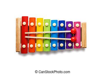 xilofono, colore, isolato