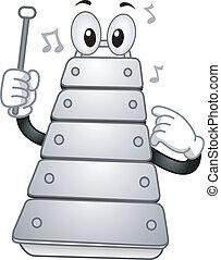 xilofono, mascotte