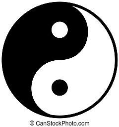 yang, simbolo, armonia, ying, equilibrio