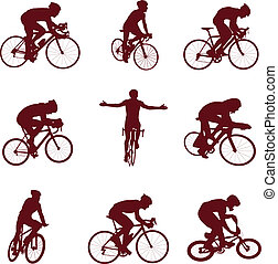 ?ycling, silhouette
