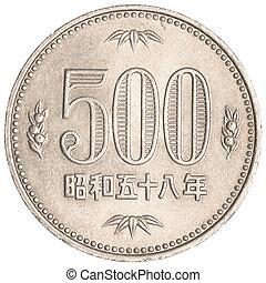yens, giapponese, 500, moneta