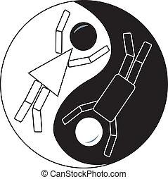 ying, figura bastone, yang