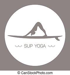 yoga, grigio, sup