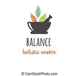yoga, wellness, -, acquarello, medicina, vettore, icona, logotipo, alternativa