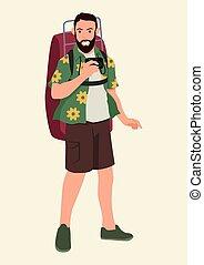 zaino, turista