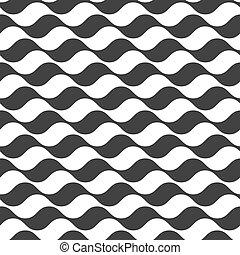 zebrato, modello, ondulato, seamless