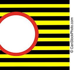 zebrato, nero, y, azzardo, bianco rosso, giallo, cerchio