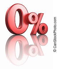 zero, percento, lucido, rosso