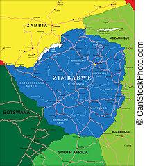 zimbabwe, mappa