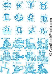 zodiaco, costellazione, simbolo