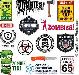 zombie, segni