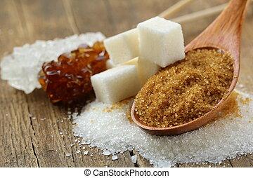 zucchero, tipi, differente